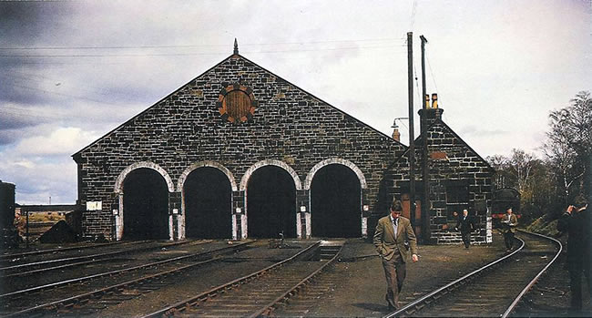 Photograph of Aviemore Shed in 1962